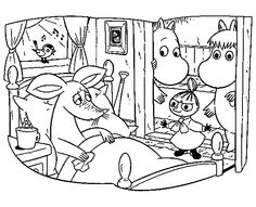 Coloring In Pages. Color pages is just a practice that is widely used by parents at home or academics at school to provide familiarity with the alphabets, pet, Moomin, Cute Coloring Pages, Coloring Books, Tove Jansson, Textiles, Sanrio, Family Portraits, Troll, Snoopy