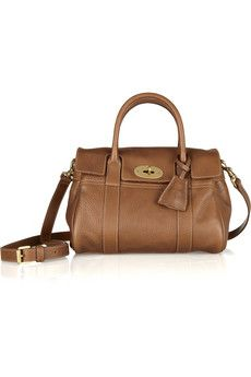Mulberry   Small Bayswater textured-leather bag