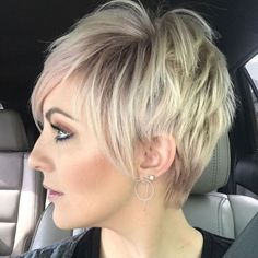 Disconnected Blonde Balayage Pixie