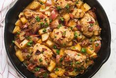 One Pan Dijon Chicken and Potatoes