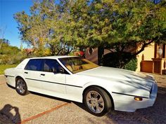 Learn more about White Diamond: 1983 Aston Martin Lagonda w/ BAR Swap on Bring a Trailer, the home of the best vintage and classic cars online. Classic Aston Martin, Aston Martin Cars, Aston Martin Lagonda, White Diamonds Perfume, Jaguar Xj, Classic Cars Online, Amazing Cars, Hot Cars, Martini