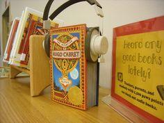 Heard Any Good Books Lately? Audiobook display idea - we've got plenty of broken headphones we could use!
