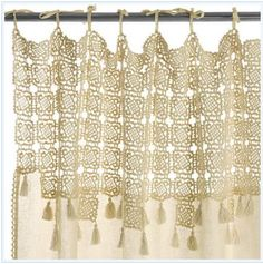 crochet curtains... so cute!