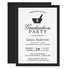 Doctor Graduation Invitation Medical Graduation Invite Doctor