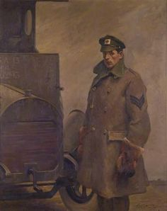 """British WW1 """"Red Cross Society Motor Driver"""" by Gilbert Rogers"""