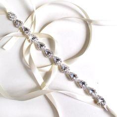 Teardrop+Rhinestone+Bridal+Headband++White+or+Ivory+by+GetNoticed,+$26.00