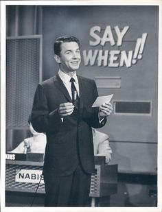 American actor and game show host Art James, seen on the set of Say When! 1962.