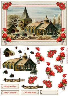 A gorgeous 'Vintage Christmas' decoupage Topper. There are lots of lovely decoupage elements on this sheet for you to be able to cut out and attach to your main topper. I have also included 3 sentiment banners and 1 blank banner for you to be able to add your own greeting. There are many more of these lovely Christmas Vintage designs in this collection which you can view by clicking on the links below. Thank you for showing an interest in my design. Please click on my name abov... Christmas Carol, Vintage Christmas, Xmas, Christmas Decoupage, Christmas Crafts, Blank Banner, Paper Cutting Templates, 3d Sheets, Step Cards
