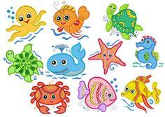 Sea Friends Applique Animals Collection