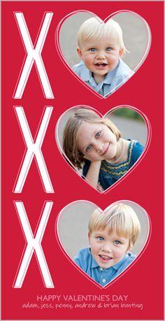 XO Hearts Valentine's Card by Petite Lemon   Shutterfly.com