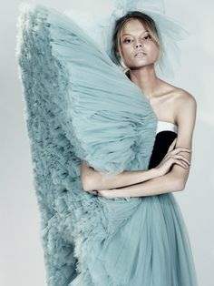 """Magdalena Frackowiak in """"The Amsterdam Chainsaw Massacre"""" by Josh Olins for Dazed & Confused"""