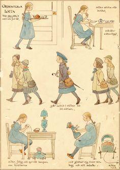 Ottilia Adelborg - Ordentliga Fight Jultomten 1914