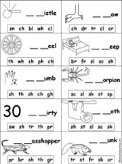 worksheet heaven for blends digraphs - this caught my eye
