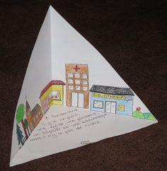 Triaramas/Quadraramas--put 4 triaramas together to form a pyramid (quadrarama).