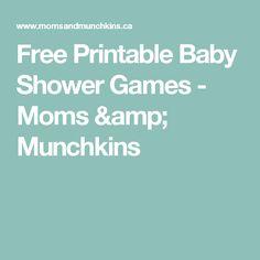 Free Printable Baby Shower Games - Moms & Munchkins