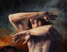 """""""Out of My Face"""", Leo Plaw, 30 x 24cm, oil on canvas"""