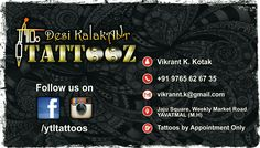 "Permanent Body  Tattooz At ur city  ""YAVATMAL"" Desi KalakAAr  Tattooz  Jaju square Weekly  market  road  Yavatmal Call. 9765626735 All kinds of Tattooz with top Quality Hygienic work at Affordable cost...  Like my page and get Tattoo updates:- www.facebook.com/ytltattoos #yavatmaltattoo #yavatmal #tattoo #tattooyavatmal"