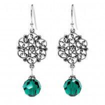 Emerald Crystal Lillian Birthstone Earrings - May - Beadaholique Jewelry Kit
