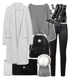 """""""Untitled #20368"""" by florencia95 ❤ liked on Polyvore featuring Paige Denim, MANGO, Versace, Jamie Clawson, Acne Studios and rag & bone"""
