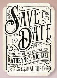Vintage Meets Modern #stationery #wedding