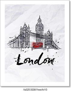 Free art print of Poster London