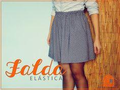 ca la coru: SAL falda primaveral Waist Skirt, High Waisted Skirt, Lana, Mini Skirts, Blog, Fashion, High Skirts, Sewing, Moda