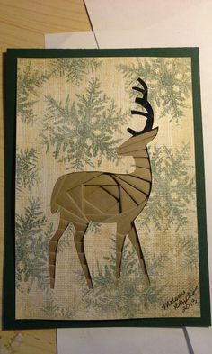Iris folded deer