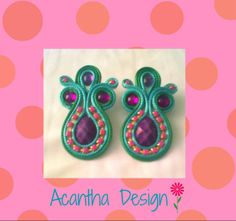 #Earrings #Zarcillos #Moda #hechoamano #Soutache Birthday Candles, Washer Necklace, Jewelry, Design, Ear Studs, Handmade, Jewellery Making, Jewelery
