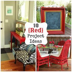 Decorating and DIY--10 Red  Project Ideas