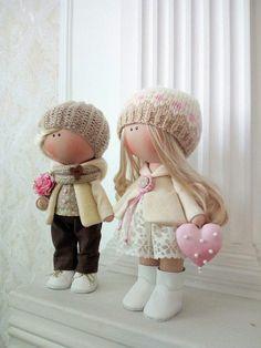 Handmade Baby Room Doll Love Winter Doll Poupée Cloth Rag Doll Beige Nursery Doll Textile Soft Doll Christmas Fabric Tilda Doll by Olga K _____________________________________________________________________________________ Hello, dear visitors! This is handmade cloth doll created