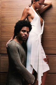 Adriana Lima and Lenny Kravitz for Vibe Magazine by Annie Leibovitz