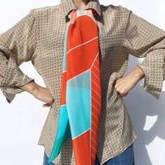 Magna Scarf 2 by NUNES - Statement piece, comfort accessory. Vibrant, custom, non-repeat surface design. Extra large square format. 100% silk crepe de chine. Produced & Manufactured in Como, Italy.
