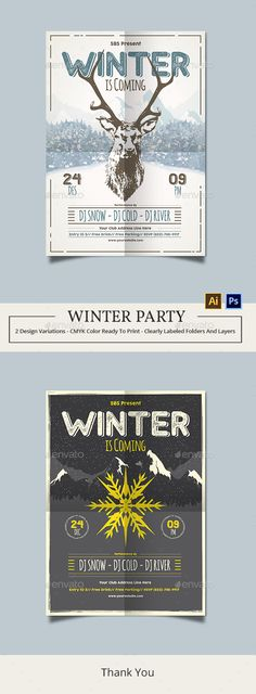 1719 Best Winter Flyer Template images in 2018