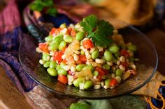 Spicy Succotash Made with Edamame