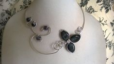 Aluminium wire necklace  Open collar by LesBijouxLibellule on Etsy