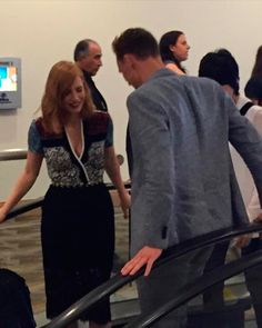 Tom Hiddleston and Jessica Chastain at SDCC!. Source: https://twitter.com/L00kitsSteph