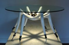 "Michael Wilson's outrageously wonderful ""Tarantula""table!"