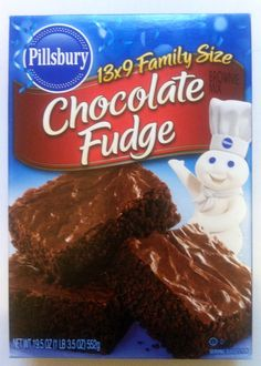 Ah, fudge! Pillsbury™ Family Size Chocolate Fudge Brownie Mix is a rich, decadent dessert made with real cocoa. Chocolate Fudge Brownies, Boxed Brownies, Chocolate Chips, Baking Chocolate, Moist Brownies, Baking Brownies, Homemade Brownies, Brownie Cookies, Sweets