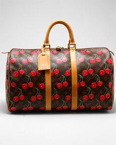 So cute, so expensive! Louis Vuitton Cerises Keepall