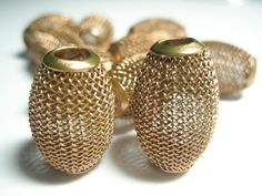 15 mm  Basketball Wives Inspired   BRONZE BARREL MESH  by BathBar