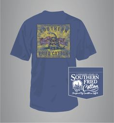 Southern Fried Cotton Don't Tread on Me Patch Short Sleeve Shirt