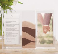 Clearly Love Sand Ceremony Shadow Box with Photo Frames
