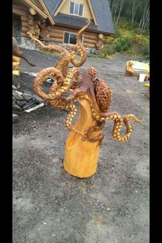 Incredible Octopus Wood Carving. - Imgur