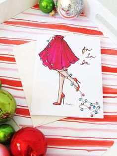Have the most stylish Christmas cards of the season! These beautifully illustrated cards come in sets of 45 and Folded x notecards on pure white cardstock with coordinating white envelopes. Christmas Doodles, Christmas Drawing, Merry Christmas Card, Christmas Stickers, Christmas Cats, Christmas Time, Christmas Island, Christmas Vacation, Xmas