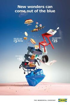 Part of a magical set that I worked on earlier this year for IKEA featuring flying everything. Food styling and preparation by me, Udo Reichelt-Schaurer. Creative Advertising, Ads Creative, Creative Posters, Advertising Design, Design Stand, Ad Design, Layout Design, Interior Design, Sports Graphic Design