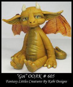Fantasy-Little-Dragon-DollHouse-Art-Doll-Polymer-Clay-CDHM-OOAK-IADR-Goi-Mini