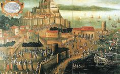 """Vicente Mostre, """"La Expulsión (de los moriscos) en el Puerto de Denia"""" 1613"""