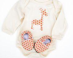 Baby Gift Set. Whale Organic Long Sleeve Bodysuit by GrowingUpWild