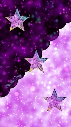 By Artist Unknown. Cocoppa Wallpaper, Star Wallpaper, Wallpaper For Your Phone, Glitter Wallpaper, Purple Wallpaper, More Wallpaper, Cute Wallpaper Backgrounds, Pretty Wallpapers, Cellphone Wallpaper