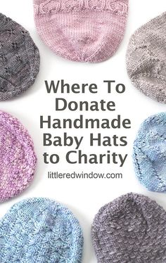 Where to Donate Baby Hats to Charity – Little Red Window – Knitting patterns, knitting designs, knitting for beginners. Knitting For Charity, How To Start Knitting, Knitting For Kids, Easy Knitting, Knitting For Beginners, Loom Knitting, Baby Hat Knitting Pattern, Baby Hat Patterns, Baby Hats Knitting